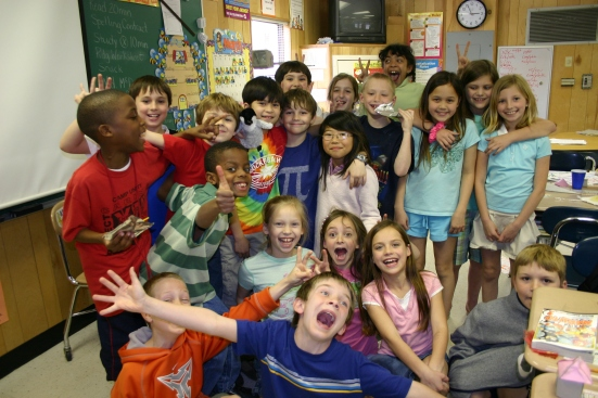 Peyton and his class celebrated his 8th Pi birthday in style in 2009. This is one of my favorite pictures ... ever!
