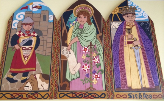 Illustrator and artist, Monica Wyrick, created this beautiful triptych for our family.